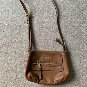 Camel Michael Kors crossbody purse